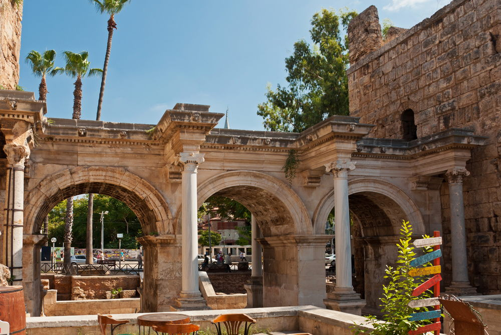 Hadrians Gate in Antalya in Turkey