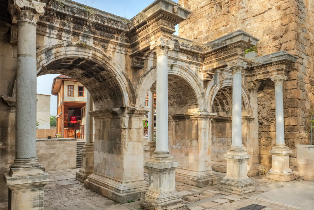 Hadrianus Gate in Antalya in Turkey