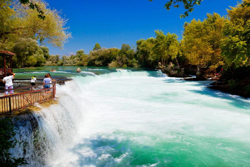 manavgat waterfall in Antalya in Turkey