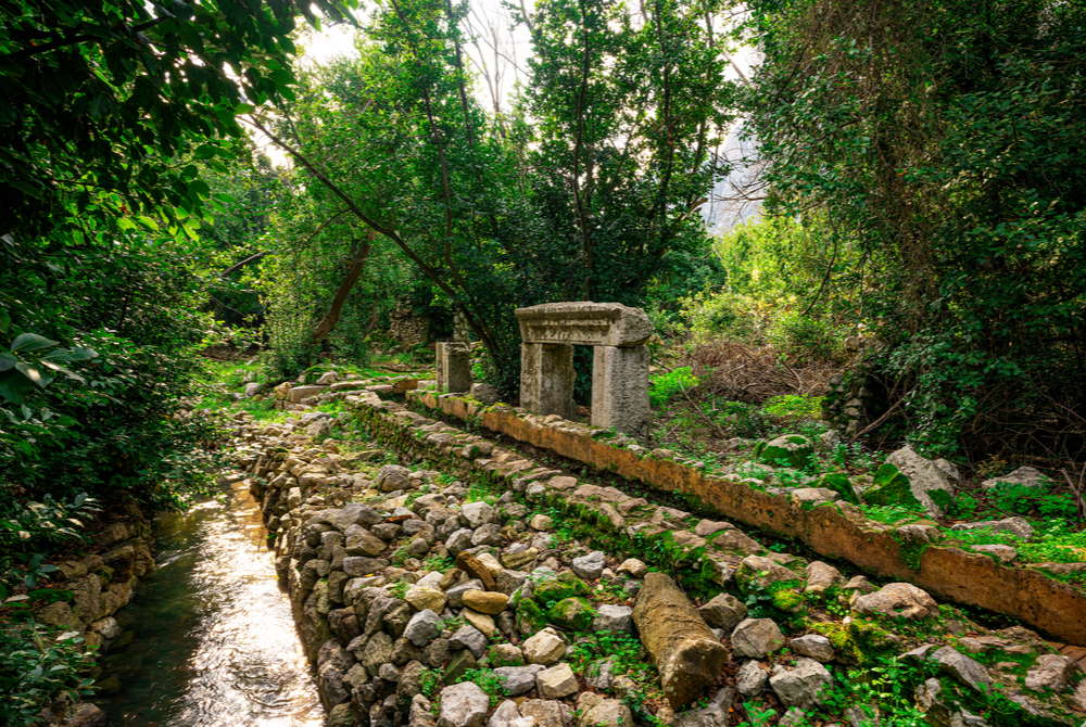 Olympos Ancient Water Channel in Antalya in Turkey