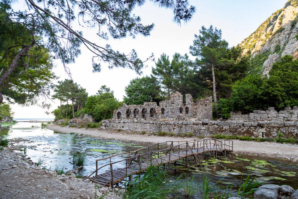 Olympos Bridge in Antalya in Turkey