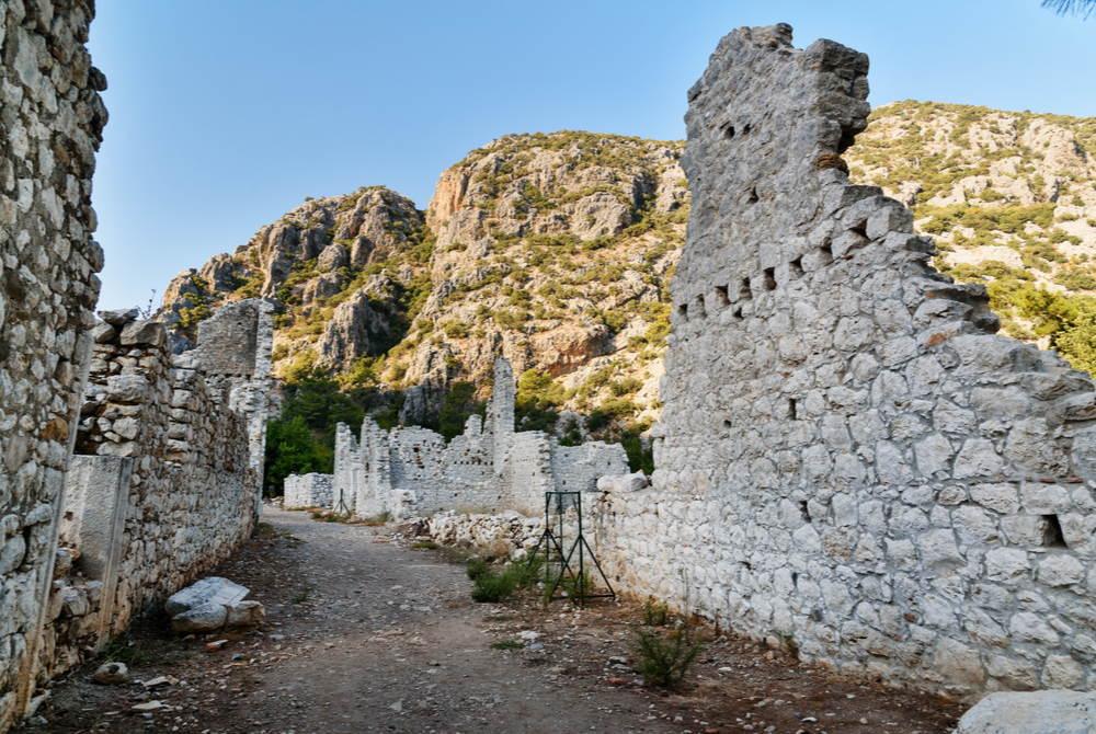 Olympos Ruins in Antalya in Turkey