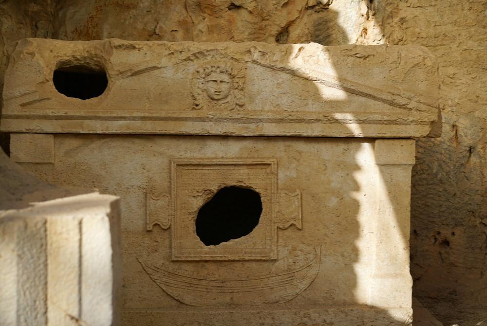 Tomb at Olympos Ruins  in Antalya in Turkey