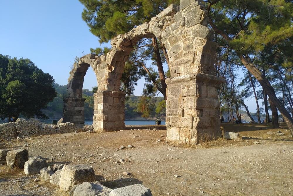 Aqueduct Ruins at Phaselis in Antalya in Turkey