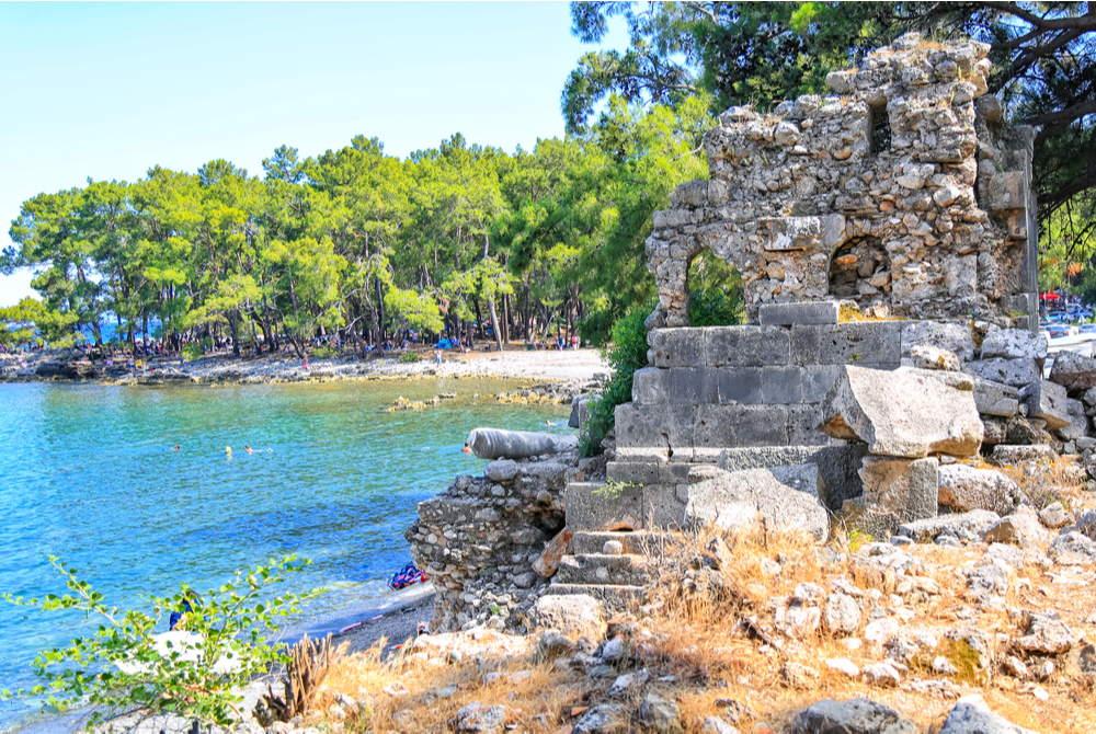 Phaselis Bay in Antalya in Turkey