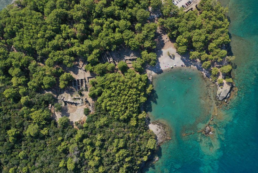 Phaselis Bay in Tekirova in Antalya in Turkey