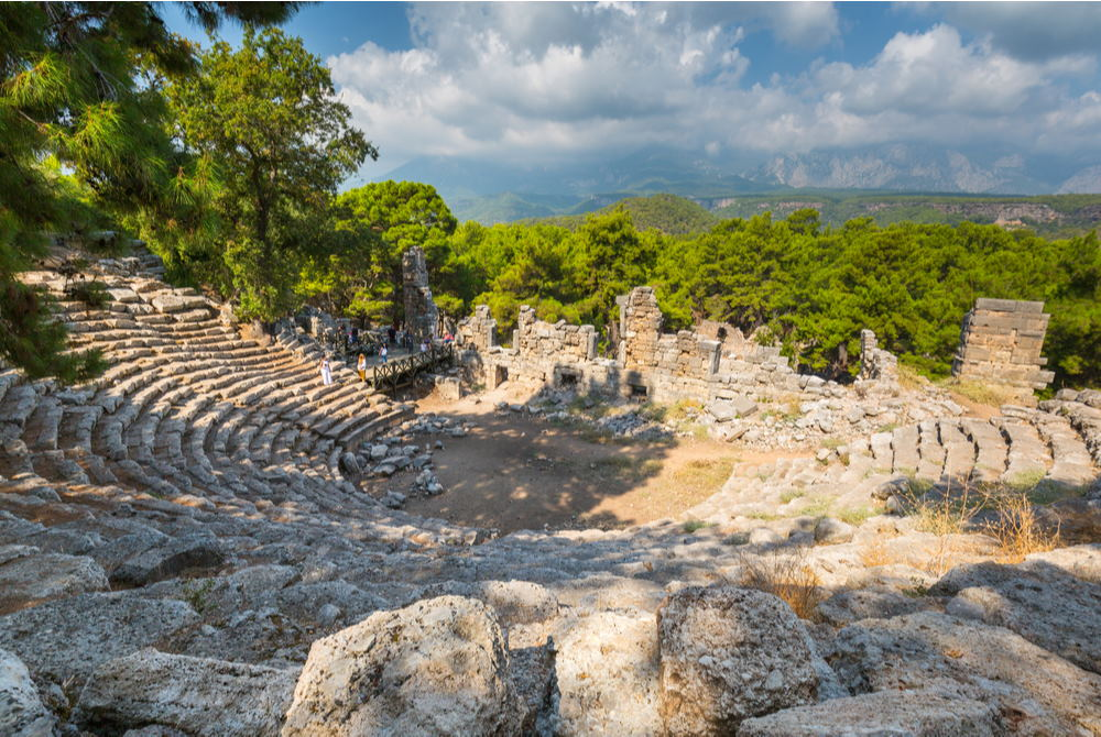 Theatre at Phaselis in Antalya in Turkey