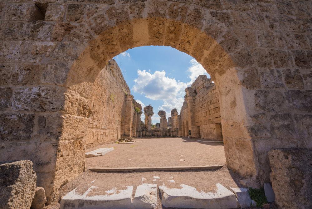 Perge Ancient Site in Antalya in Turkey