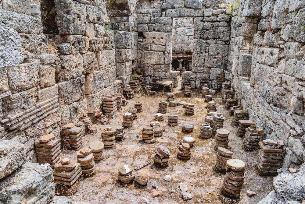 Ruins at Phaselis in Antalya in Turkey
