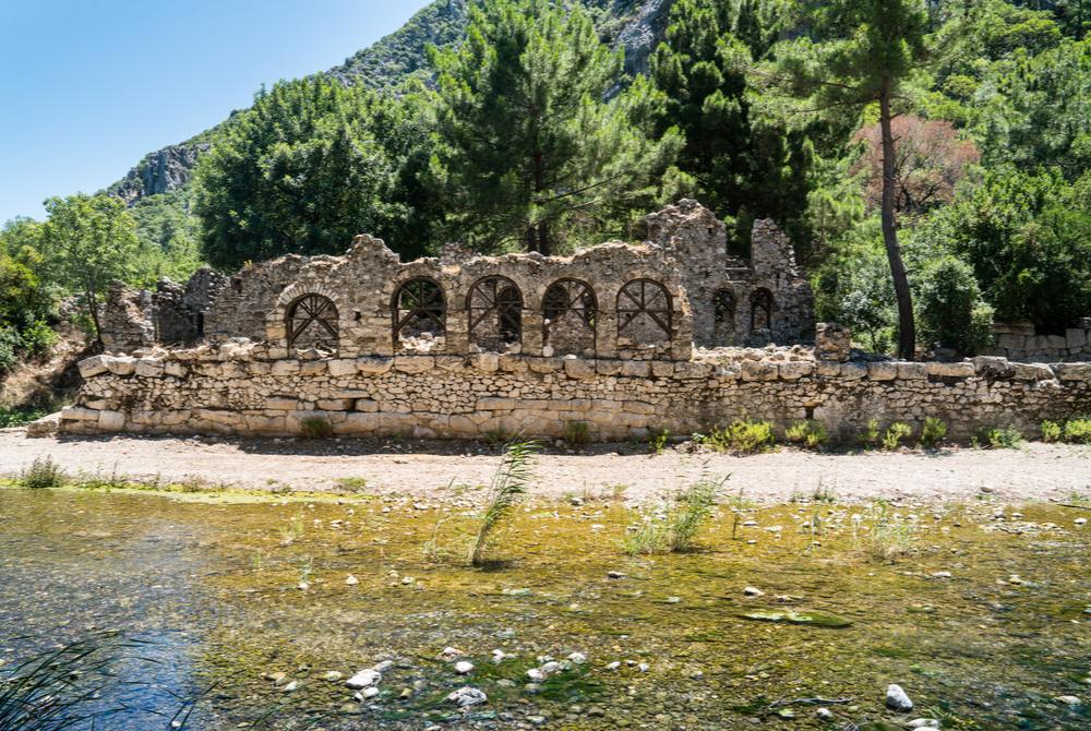 Olympos Ancient Site in Antalya in Turkey
