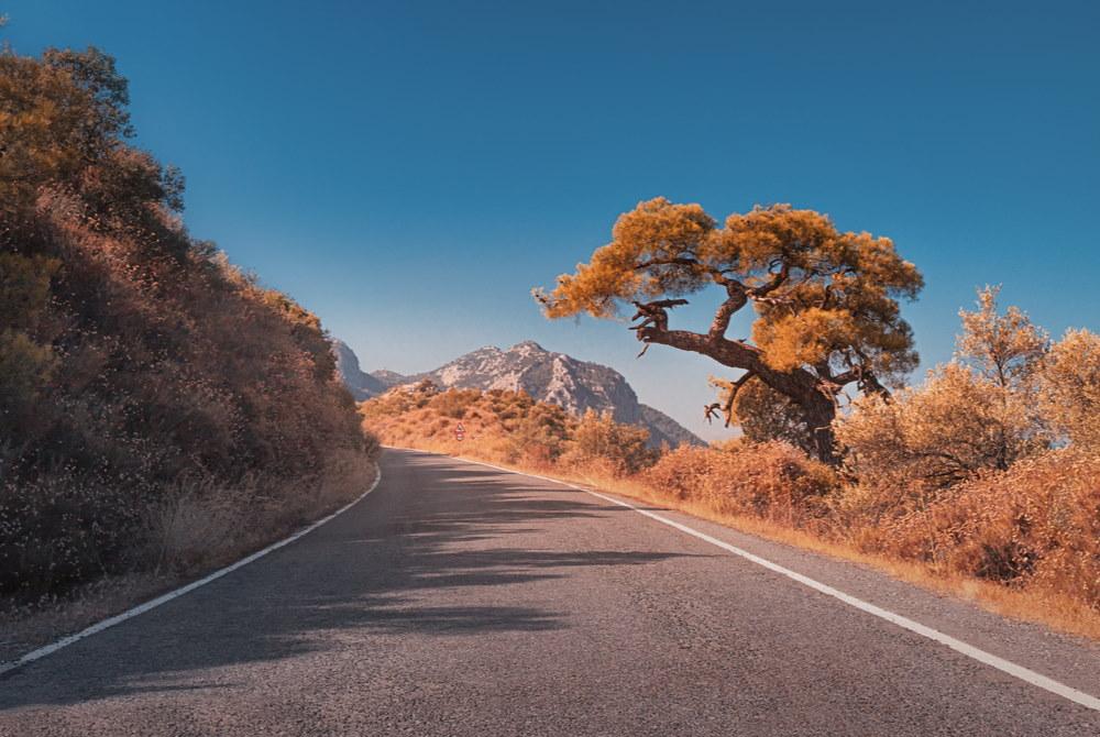 Road to Termessos in Antalya in Turkey