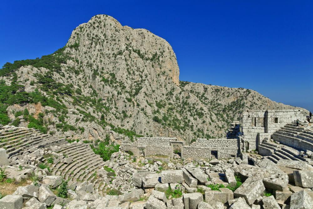 Theater of Termessos in Antalya in Turkey
