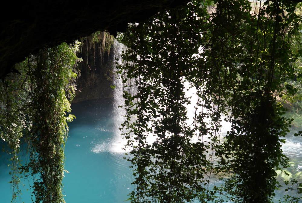 Upper Duden Waterfall kepez in Antalya in Turkey