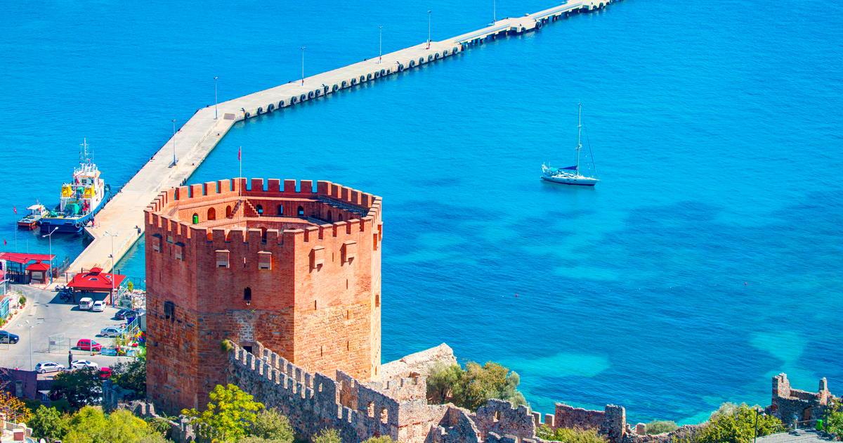 kızıl kule- Red Tower in alanya in Antalya in turkey