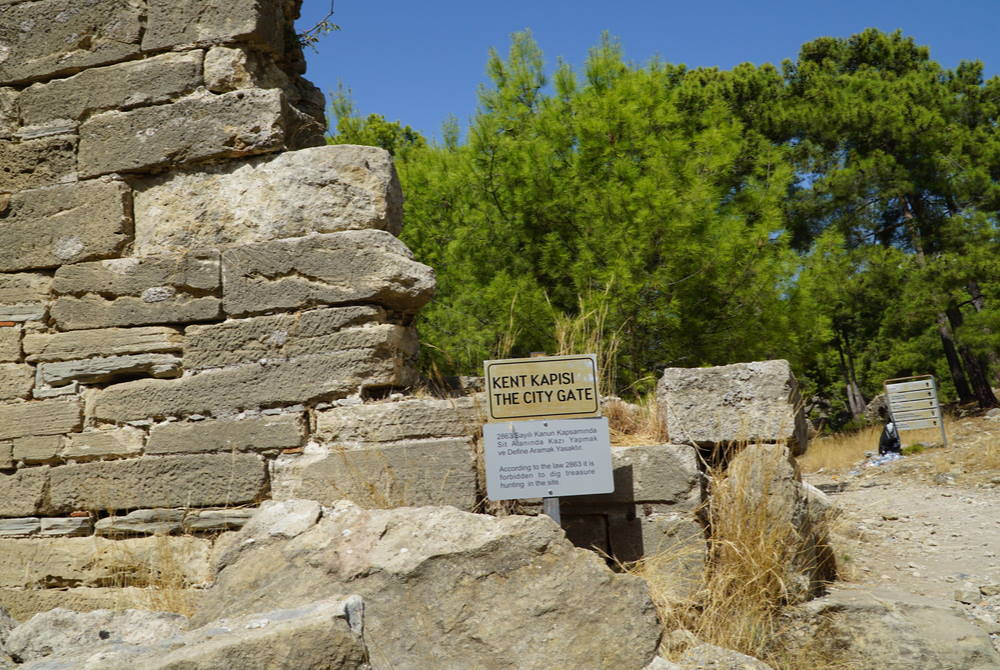 Lybre Ancient City Entrance in Antalya in Turkey