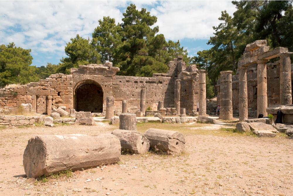 Lybre Ancient City in Antalya in Turkey