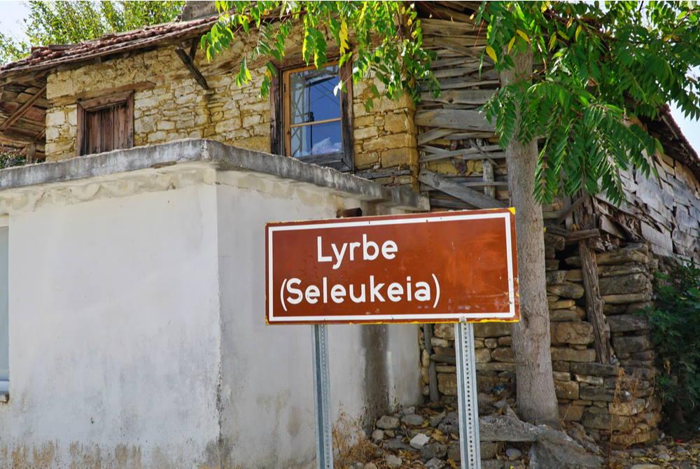 Lybre Ancient City Roadsign in Antalya in Turkey