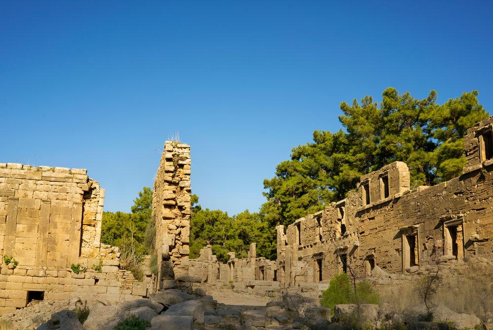 Lybre Ancient Site in Antalya in Turkey