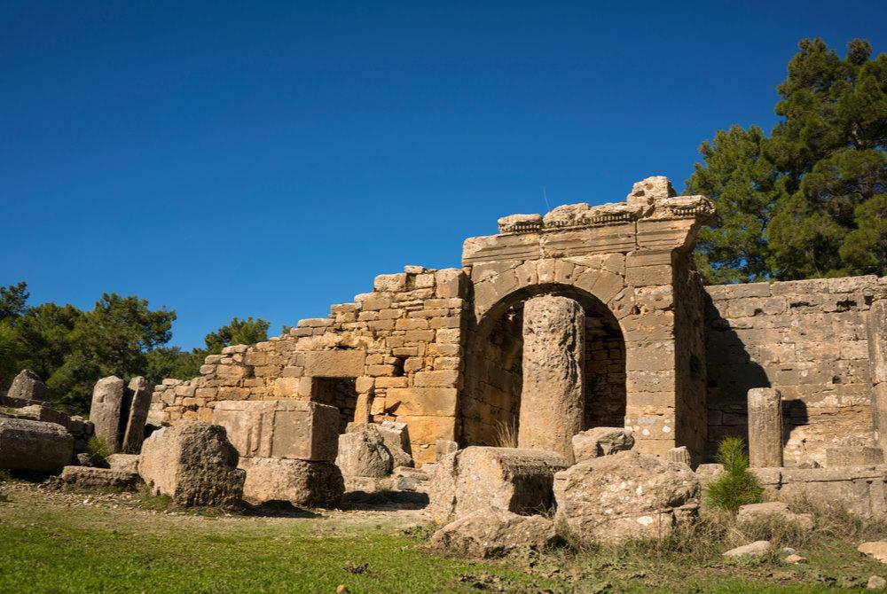 Lybre Ancient Site Ruins in Antalya in Turkey