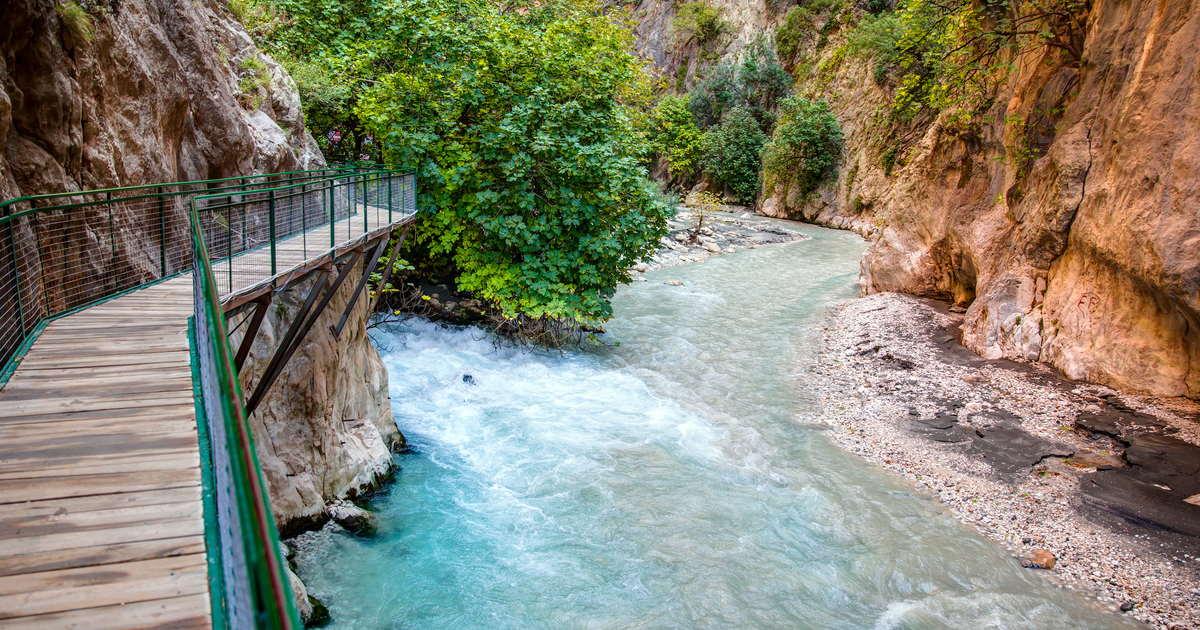 saklıkent canyon in antalya in turkey cover