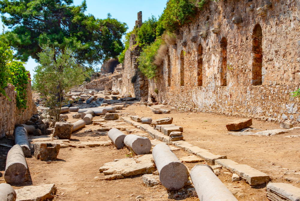 Syedra Ancient Site in Alanya in Antalya in Turkey