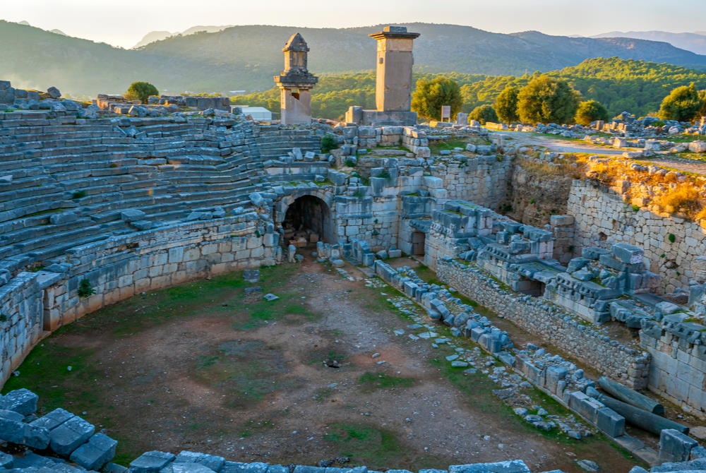 Theatre at Xanthos in Antalya in Turkey