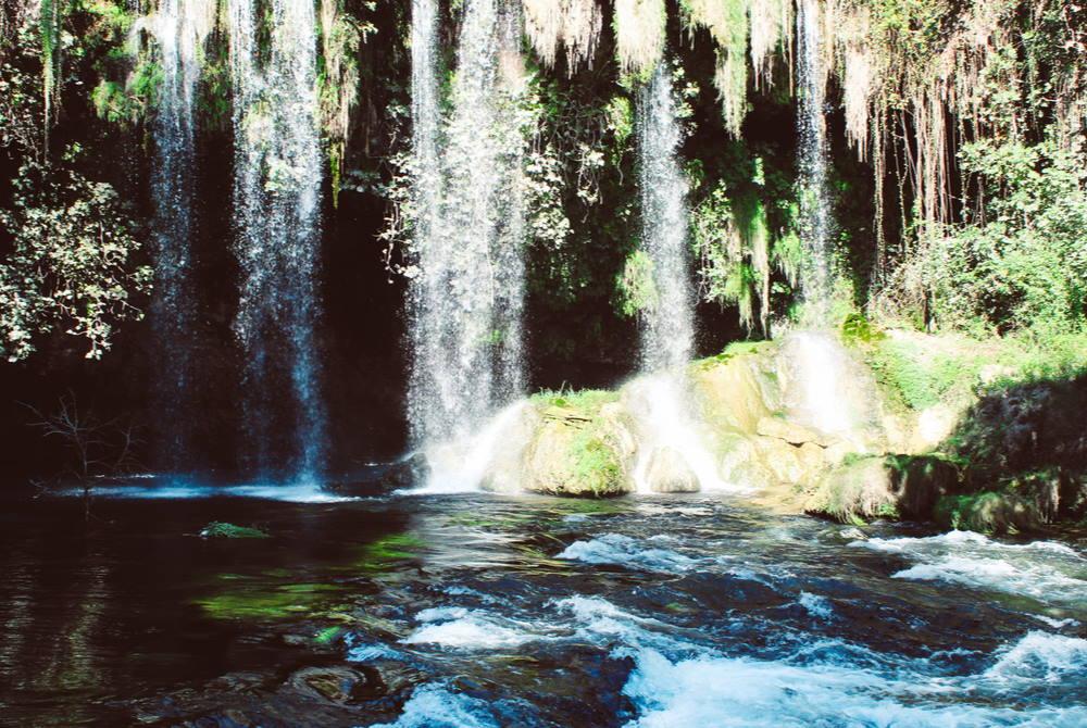 upper duden waterfall ın antalya ın turkey