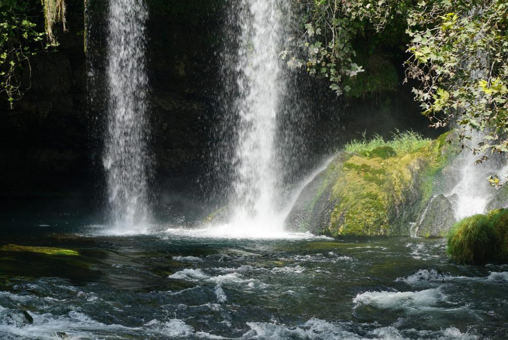 upper düden waterfall in Antalya in Turkey