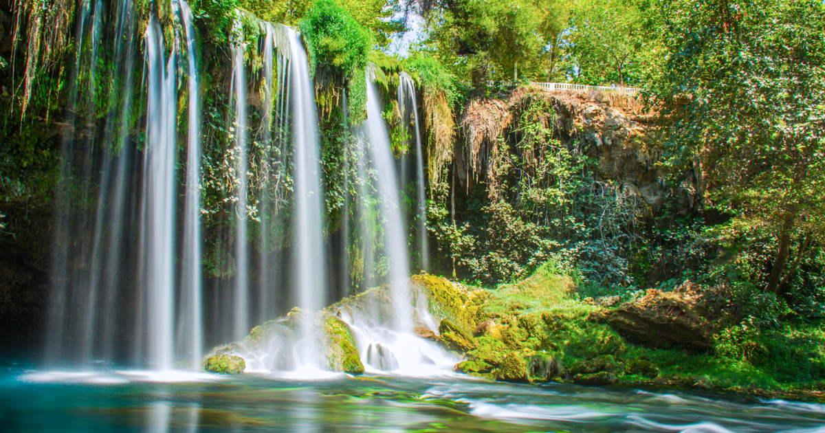 Upper Duden Waterfall in Antalya in Turkey