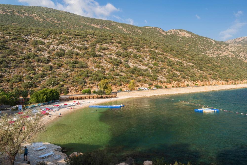 Akcagerme beach in Antalya in Turkey