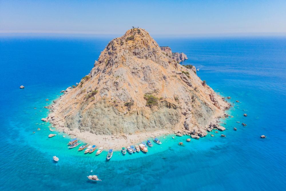 Antalya Adrasan Suluada Island in Turkey