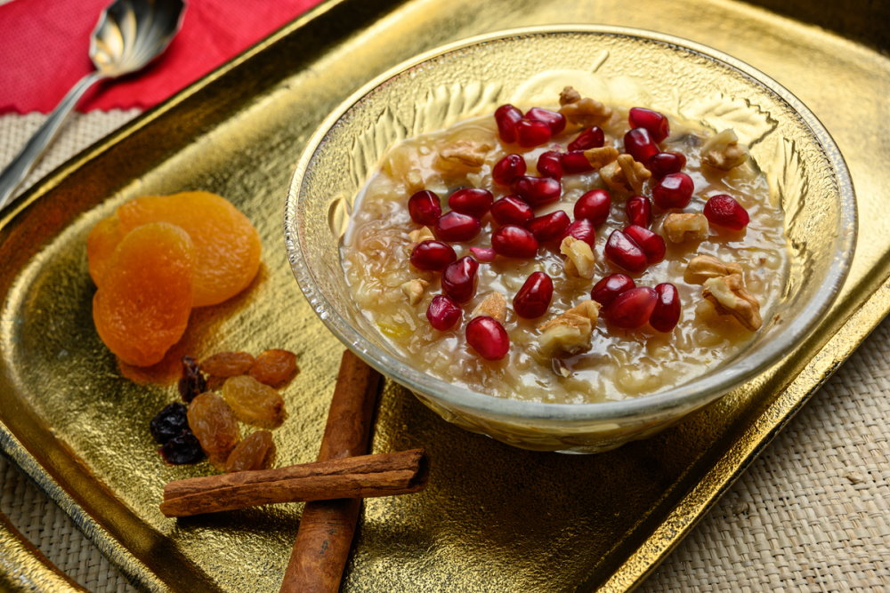Ashure or Noah pudding in the turkish dessert