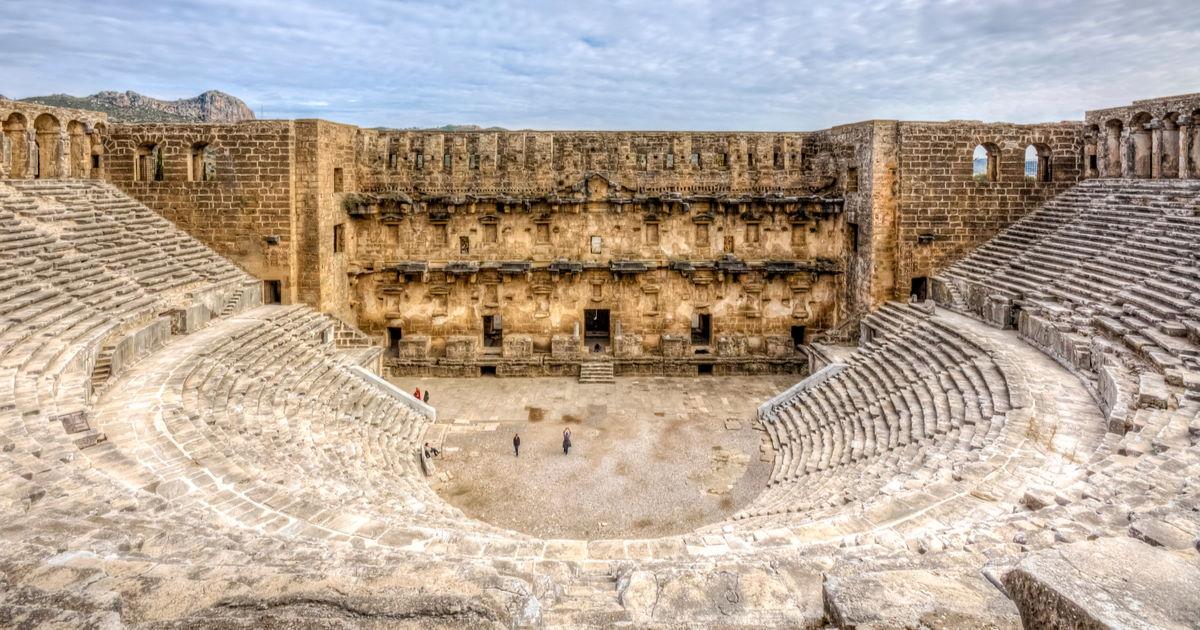 Aspendos Ancient Site in Antalya in Turkey