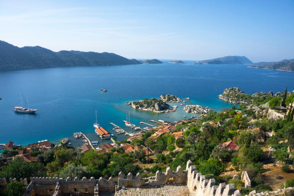 Beautiful panorama of Kekova in Antalya in Turkey