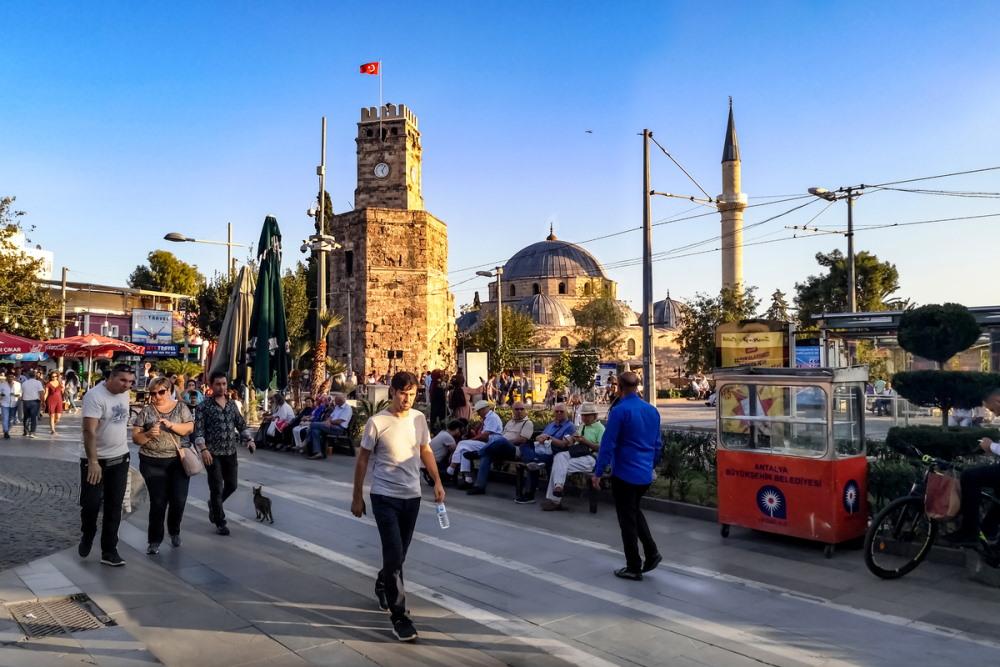 Clock Tower in Antalya in Turkey (Editorial)