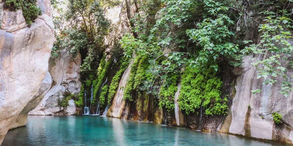 Goynok Canyon in Kemer in Turkey