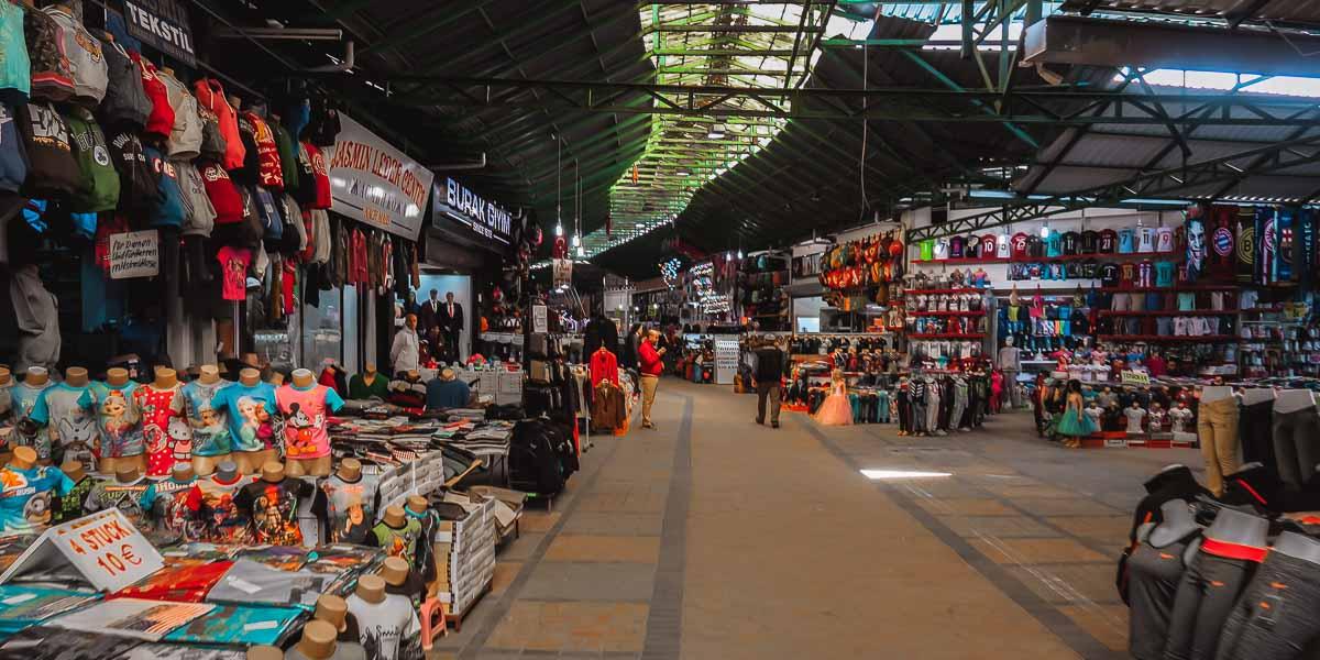 Manavgat Bazaar in Antalya in Turkey