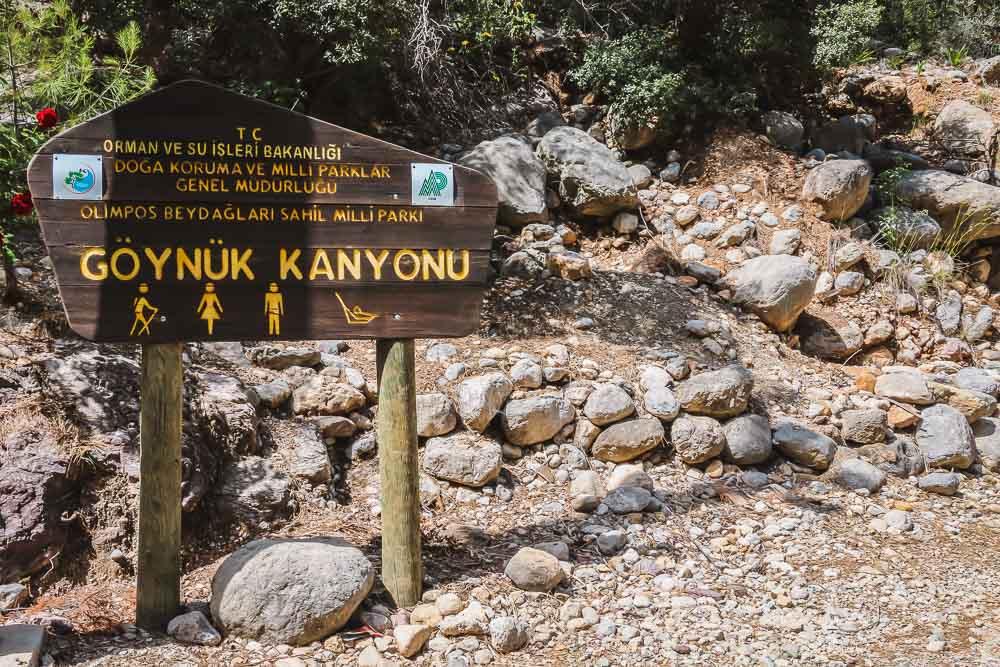 Goynuk Canyon in Antalya in Turkey