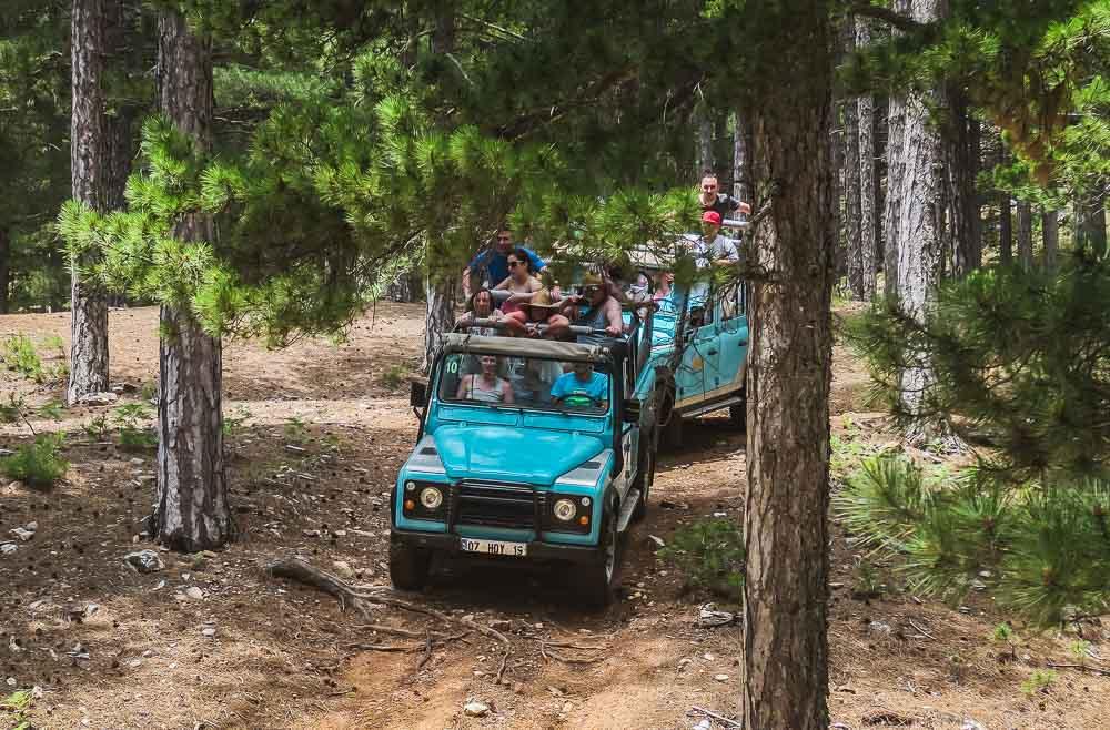 Jeep Safari in the Taurus Mountains in Antalya in Turkey