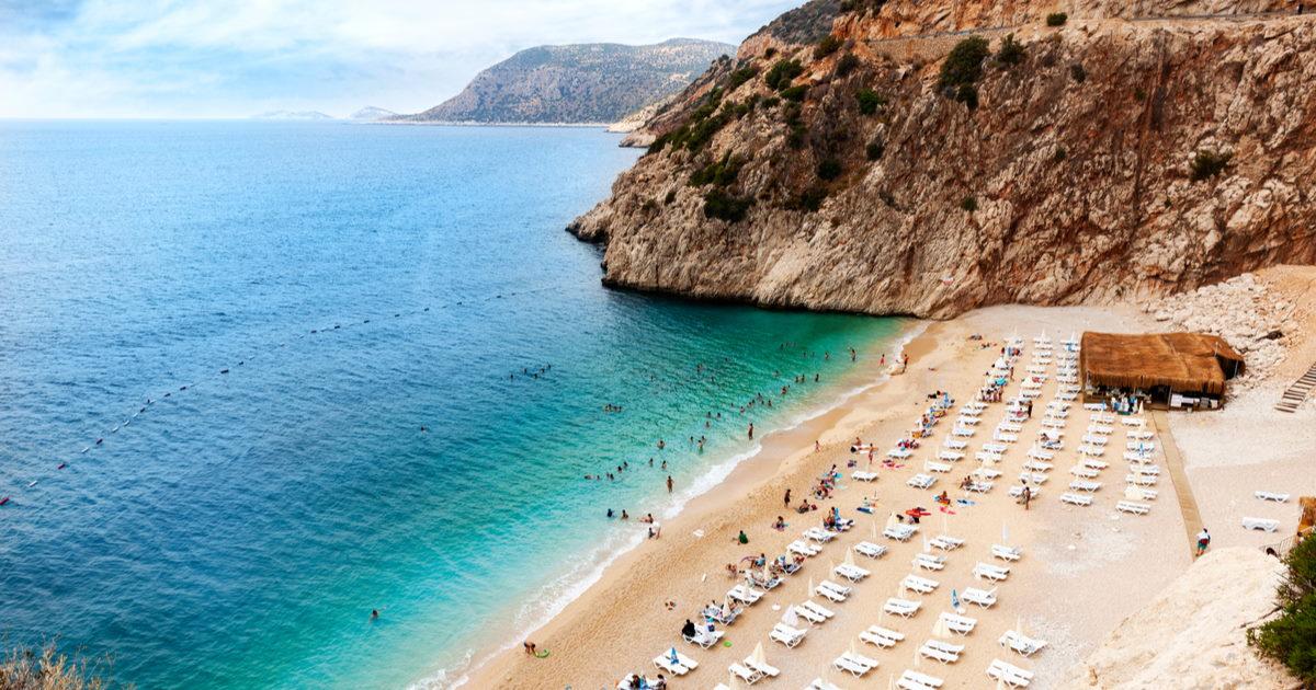 Kaputas Beach in Antalya in Turkey