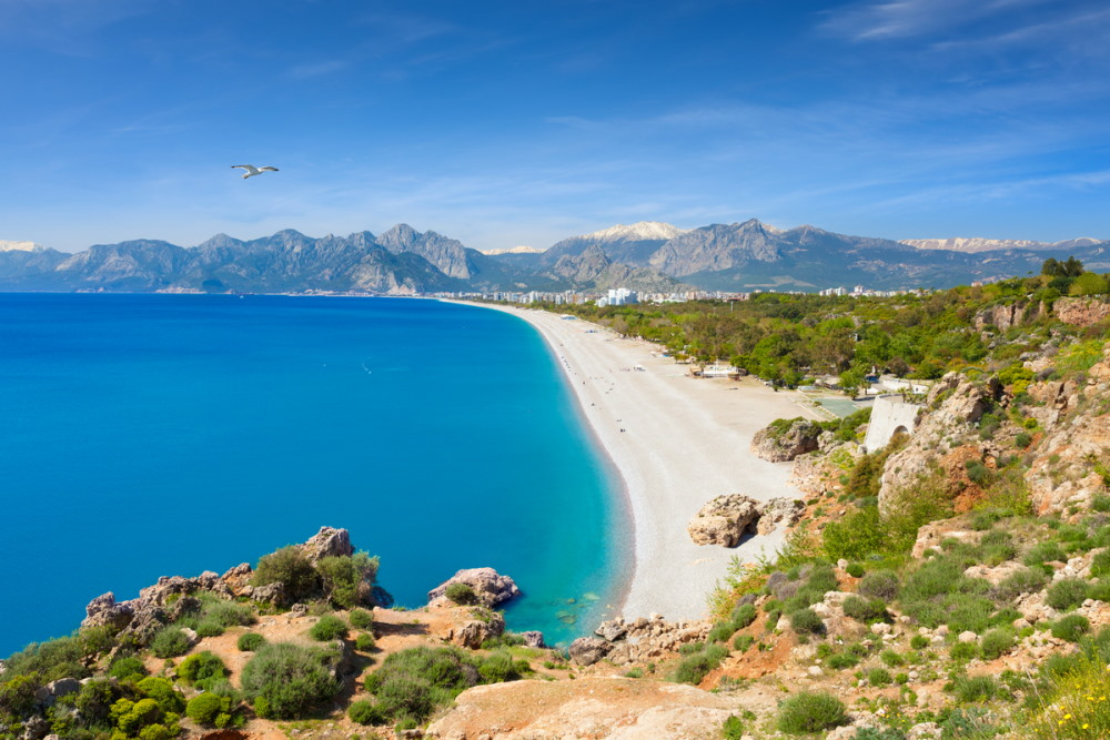 Konyaalti Beach in Antalya in Turkey