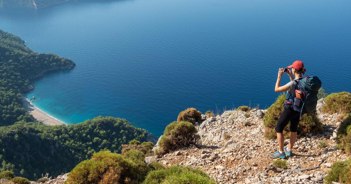 Lycian Way in Antalya in Turkey