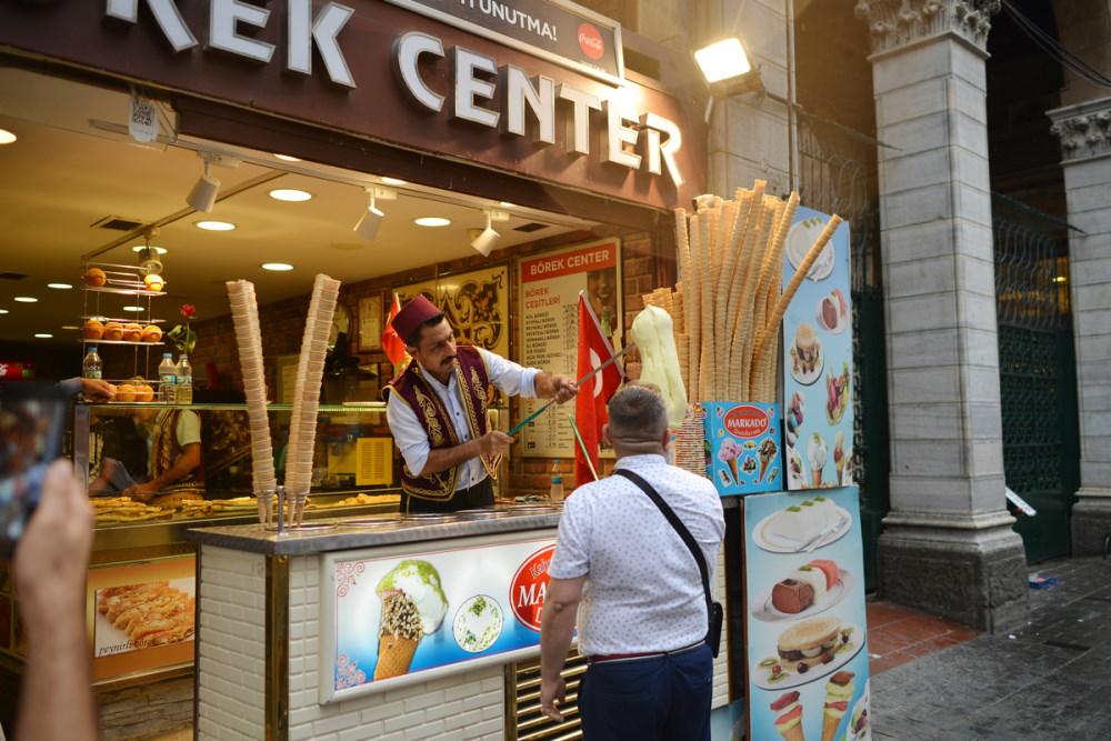 Maras ice cream in Turkey