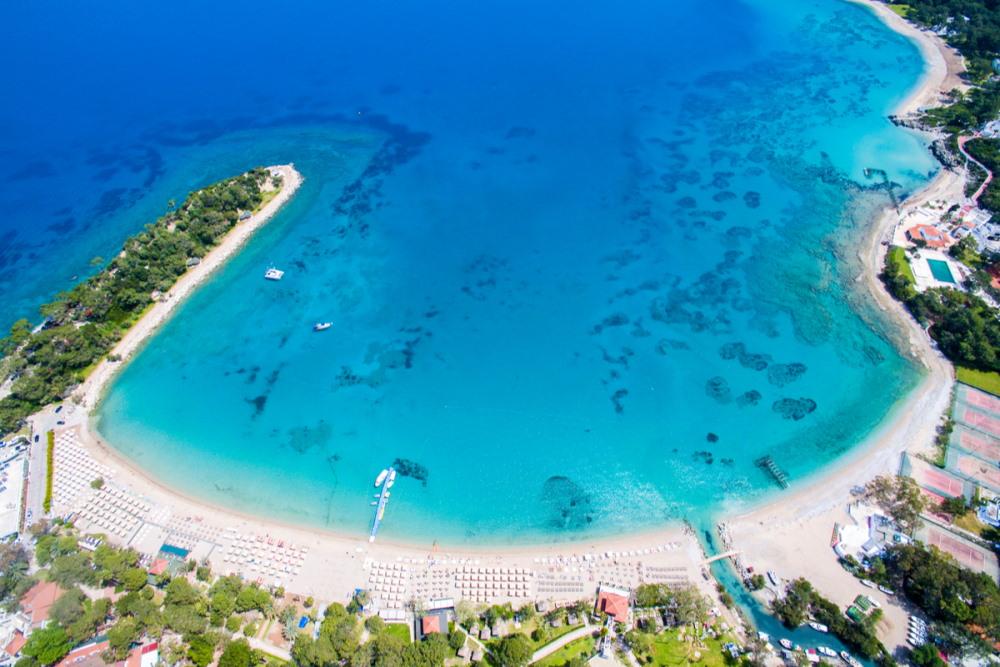 Moonlight Beach in Antalya in Turkey