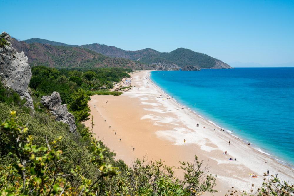 Olympos Beach in Antalya in Turkey