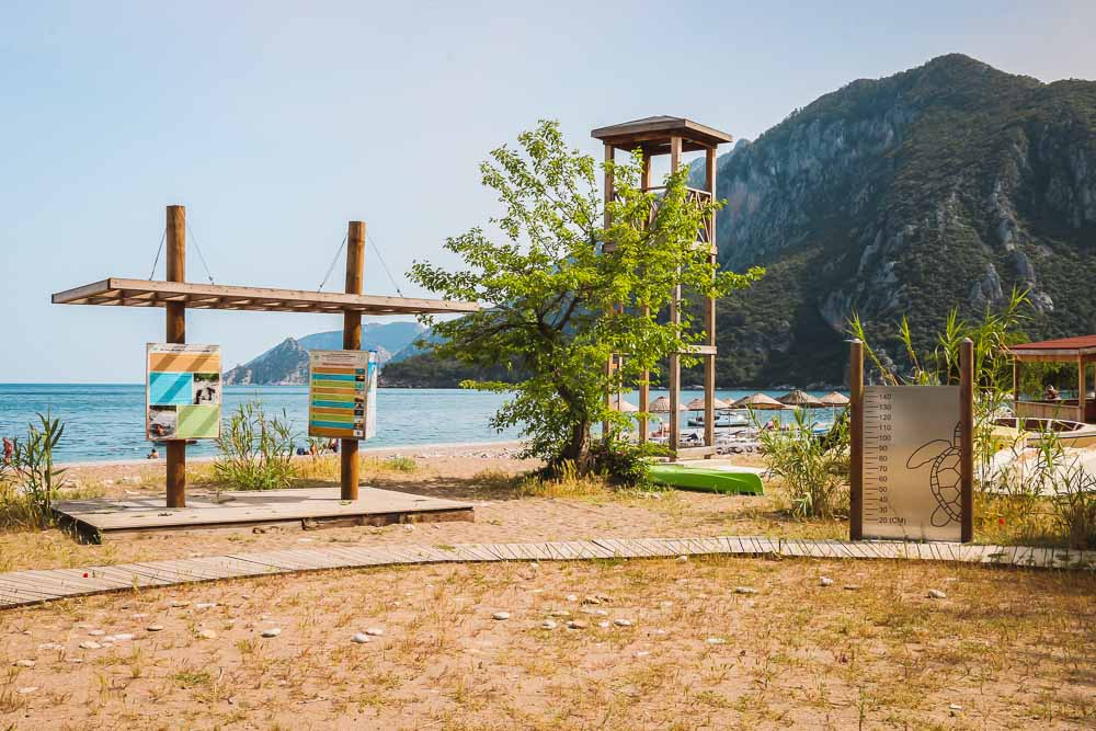 Olympos Beach in Cirali in Kemer in Antalya in Turkey