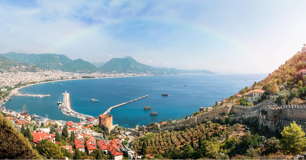Panoramic view of Alanya in Antalya