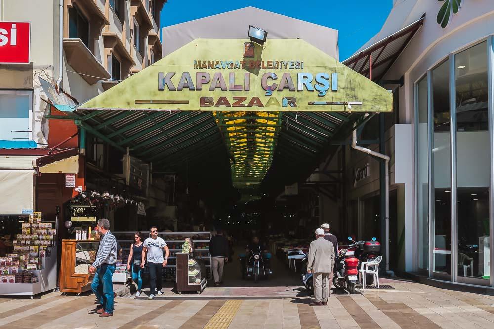 Picture Manavgat Bazaar in Antalya in Turkey