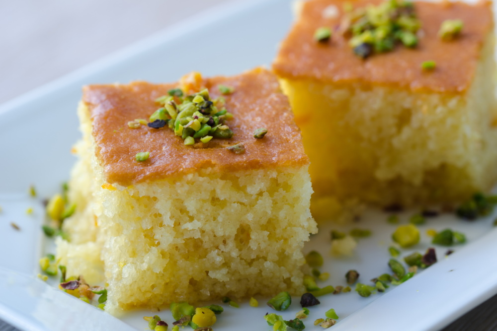 Revani sweet semolina pastry traditional turkish dessert