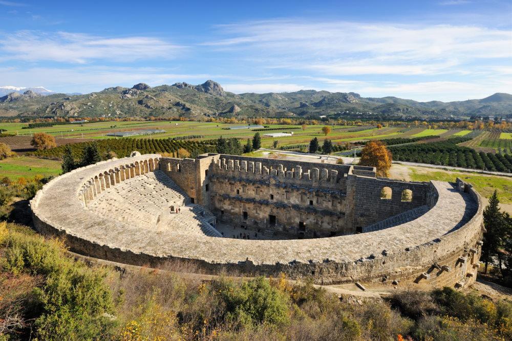 Roman amphitheater of Aspendos in Antalya